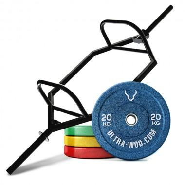 Комплект Трэп-гриф  + Бамперные диски общим весом 221 кг